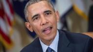 Ruft in seinen letzten Amtsmonaten auch eine Initiative für günstigere Windeln ins Leben: Präsident Barack Obama Anfang März 2016 in Washington