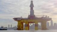 Beispielhaft Entwicklung: Seit Mitte Januar ist die Aktie von Shell um mehr als ein Drittel gestiegen. Hier eine Shell-Plattform in Elliot Bay, Seattle