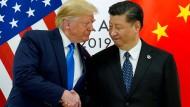 Donald Trump und Xi Jinping bei ihrem jüngsten Treffen Ende Juni in Osaka.