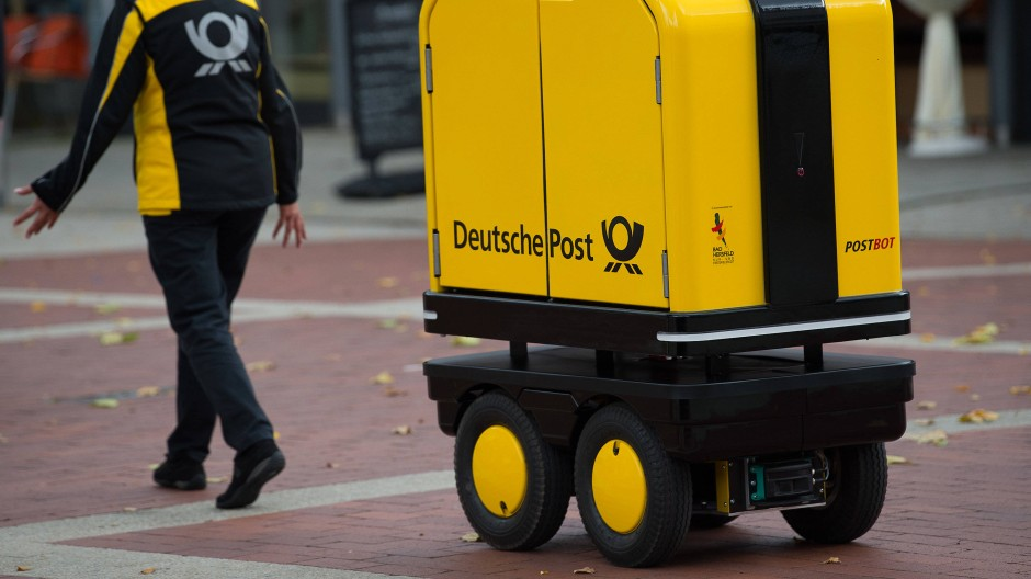 Die Deutsche Post testete Zustellroboter bereits vor einem Jahr.