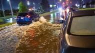 Überflutete Straßen im Südosten der USA
