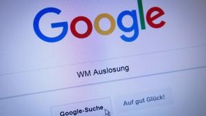 Bei Google schlägt Fußball die Politik