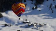 Heißluftballon-Festival in der Schweiz