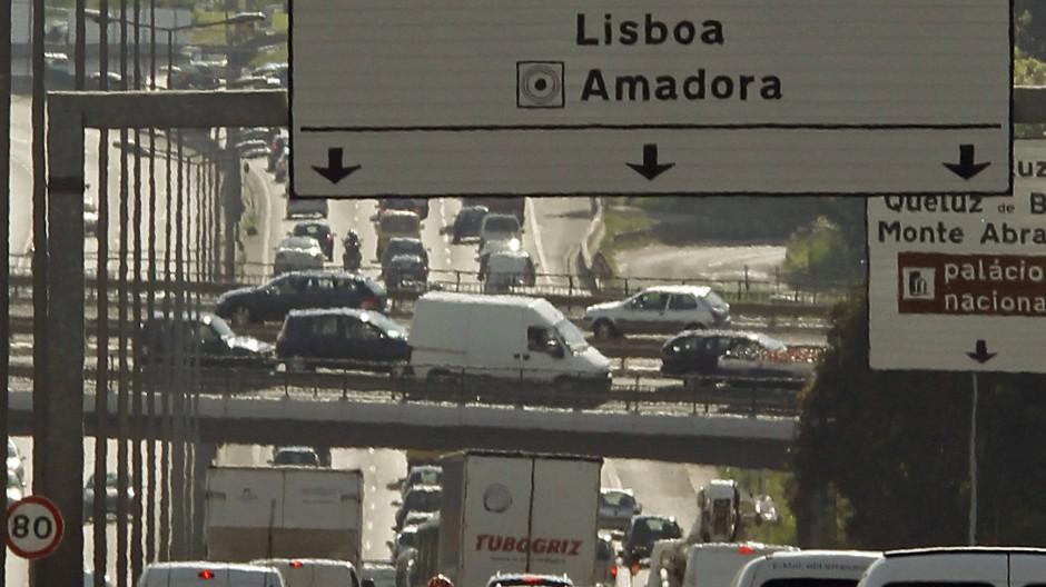 Stau auf dem Weg nach Lissabon
