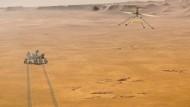 """Der Marsrover """"Perseverance"""" soll vom amerikanischen Weltraumbahnhof Cape Canaveral zu seiner Mission zum Roten Planeten aufbrechen. Auf dem Mars soll er im kommenden Jahr landen und untersuchen, ob Organismen auf dem Planeten leben können."""