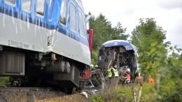 Zug aus München kollidiert