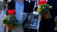 Gedenkveranstaltung am zweiten Todestag der ermordeten maltesischen Journalistin Daphne Caruana Galizia