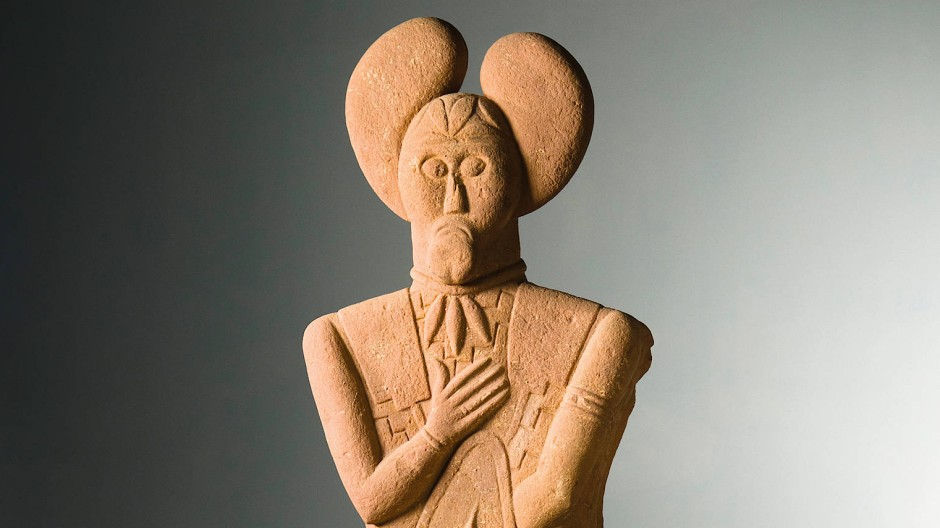 Der Herrscher: Im Jahr 1996 wurde die rund 2500 Jahre alte Figur eines Kriegers geborgen.