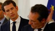 Steht ihre Koalition vor dem Aus? Österreichs Kanzler Kurz und FPÖ-Chef Strache