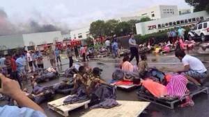 Explosion in Fabrik reißt mehr als 60 Arbeiter in den Tod
