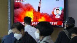 Nordkorea nimmt offenbar weiteren Raketentest vor