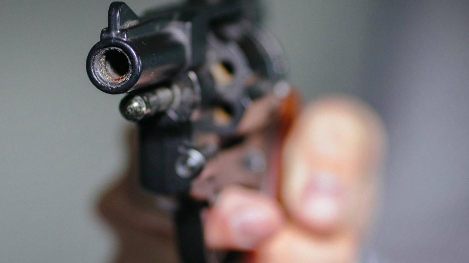 Hier wird nicht scharf geschossen: ein Schreckschuss-Revolver