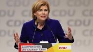 Wieder als Vizeparteivorsitzende gewählt: Julia Klöckner, Bundesministerin für Ernährung und Landwirtschaft, am Freitag in Hamburg