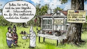 Karikatur / Greser  und Lenz /Gelingt die Aussöhnung der gespaltenen amerikanischen Gesellschaft?