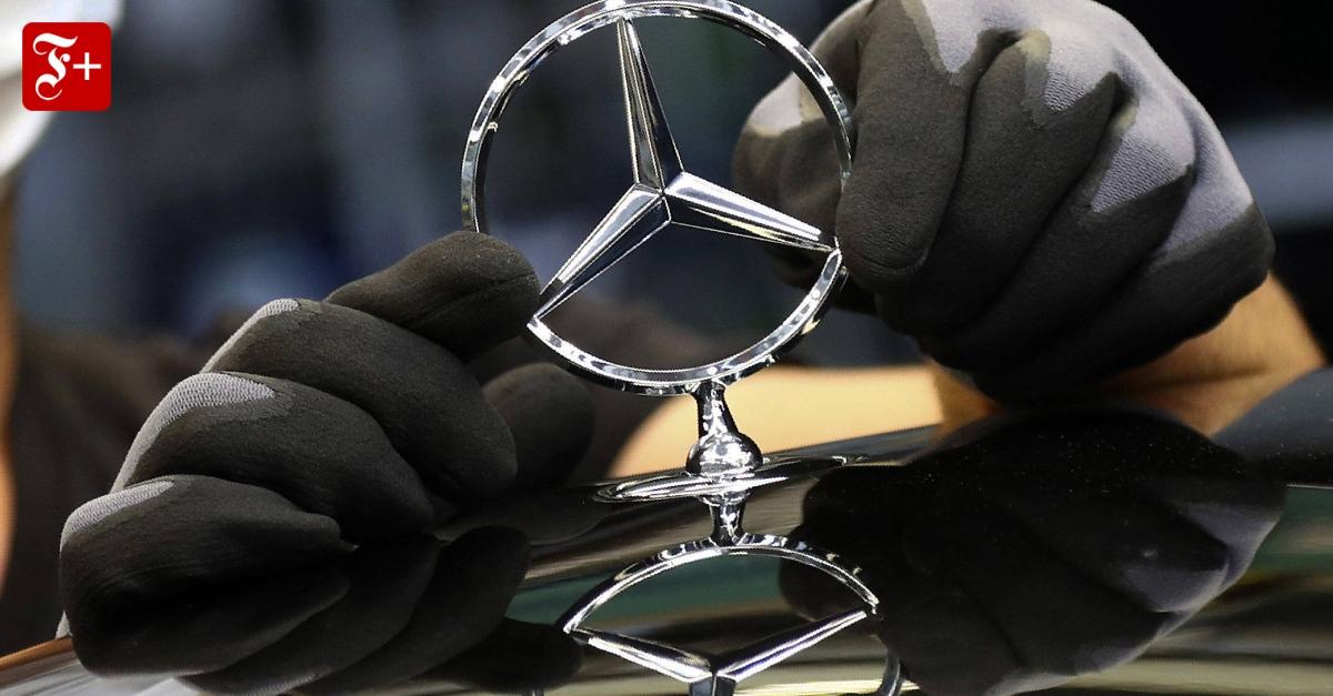 """""""Bald gibt es zwei Dax-Konzerne mit Mercedes-Stern"""" - FAZ - Frankfurter Allgemeine Zeitung"""