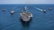 Dem amerikanischen Flugzeugträger USS Vinson kam während der Ostertage in der Konfrontation mit Nordkorea eine besondere Bedeutung bei.