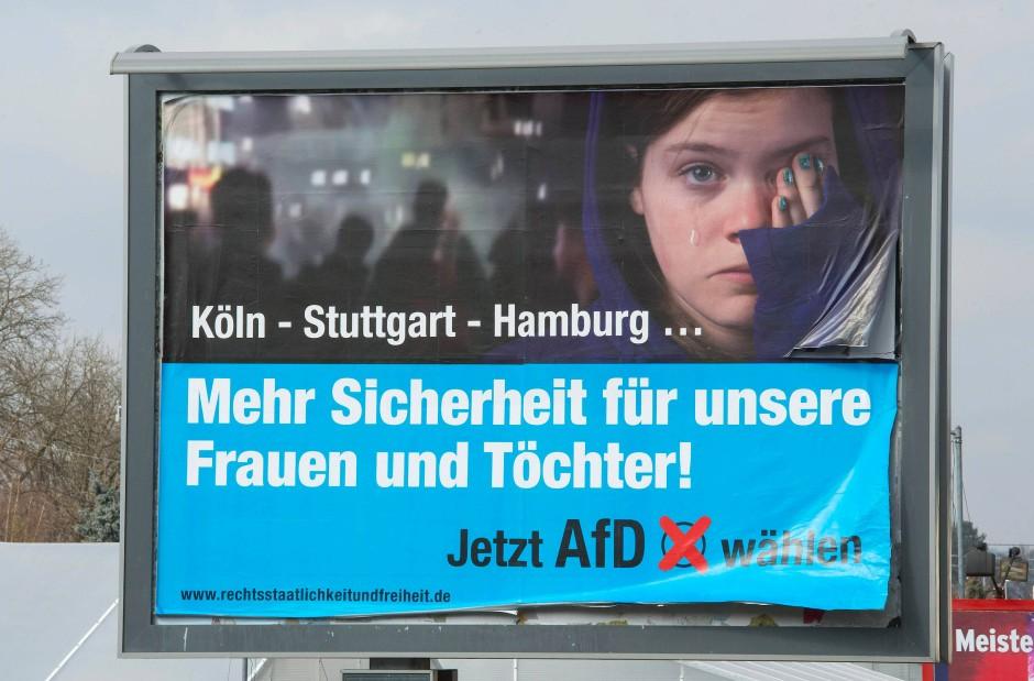 Wahlplakat aus Baden-Württemberg: Urheber war auch hier der Verein zur Erhaltung der Rechtsstaatlichkeit und bürgerlichen Freiheiten.