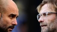 Die Premier League holte in den vergangenen Jahren die stärksten Trainer aus dem Ausland: Jürgen Klopp und Josep Guardiola.