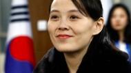 Kim Yo-jong im Februar bei der Eröffnung der Olympischen Spiele in Pjöngjang