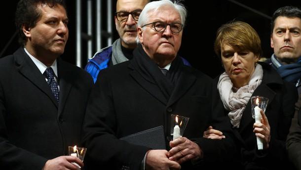 Gedenkfeier in Hanau mit Steinmeier