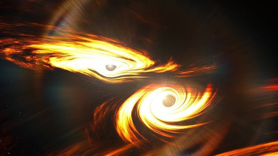 Kollision zweier Schwarzer Löcher