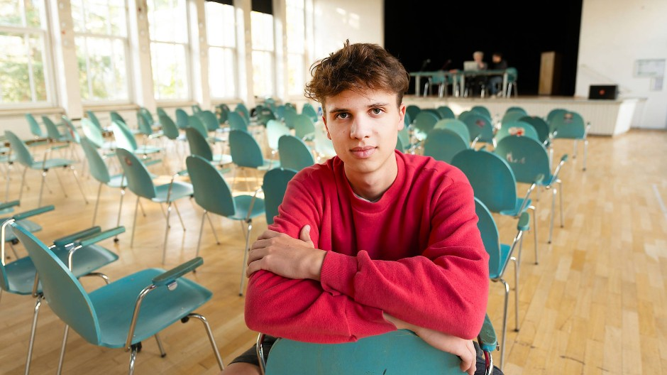 Klima-Aktivist: Der 17 Jahre alte Emil Wohlfahrt besucht die Abschlussklasse der Europäischen Schule.