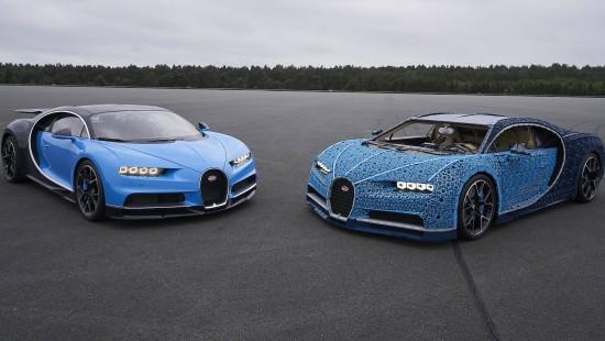 Fährt ein Bugatti komplett aus Lego?