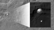 Ein Fallschirm auf dem Mars