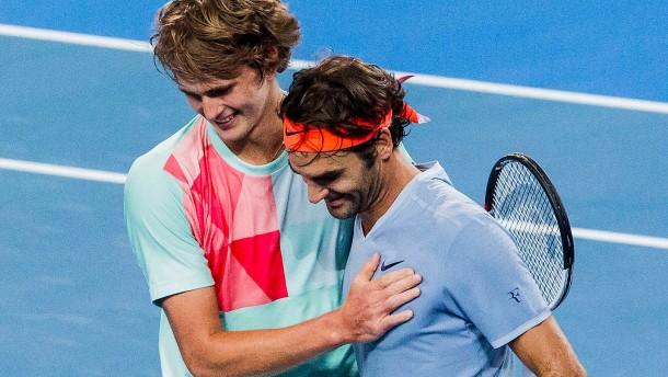 Zverev ringt Federer nieder