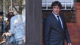 Puigdemont fordert Freilassung seiner Kollegen