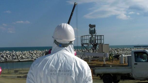 Vor Fukushima wird der Meeresgrund zubetoniert
