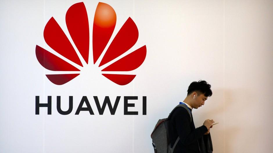 Huawei-Werbung in Peking