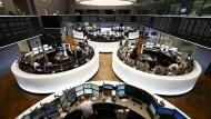 """Sehr interessante Woche an den globalen Bondmärkten"": Blick in die Frankfurter Börse."