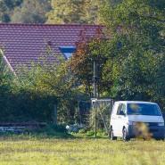 Blick auf das Haus der isolierten Familie im niederländischen Dorf Ruinerworld