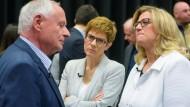 Linke, CDU und SPD: Die Spitzenkandidaten Lafontaine, Kramp-Karrenbauer und Rehlinger