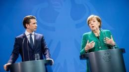 Merkels Meinung zur neuen Regierung in Wien