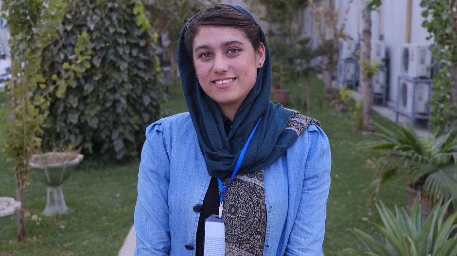 Unerschrockene Geologin: Die Afghanin Diana Afzali berät den Präsidenten in Bergbaufragen.