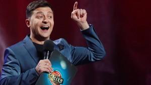 Regiert die Ukraine bald ein Komiker?