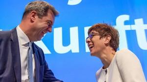 Kramp-Karrenbauer beschwört Geschlossenheit der Union