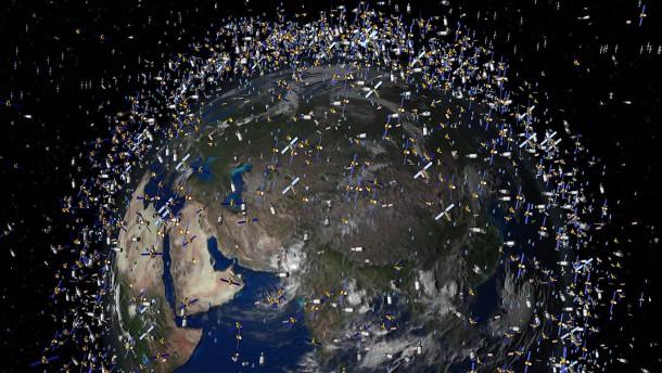 Müllabfuhr im All