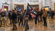 Trump-Anhänger im Kapitol-Gebäude