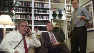 Familienbande: George W., George H.W. und Jeb Bush in der Präsidentschaftswahlnacht in Austin, Texas, im Jahr 2000