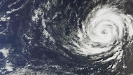 "Satellitenbild von Hurrikan ""Ophelia"""