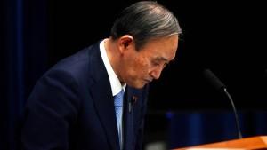 Japans Regierungschef Suga will zurücktreten