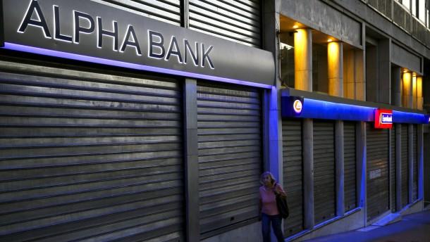 Griechische Banken in Kapitalnot