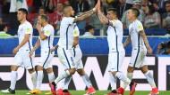 Chile freut sich über den Sieg.