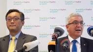 Als es noch einen Käufer gab: Der rheinland-pfälzische Innenminister Roger Lewentz (SPD) mit einem Vertreter von Shanghai Yiqian Trading Company Anfang Juni.