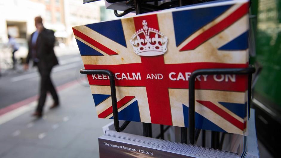Flaggen-Postkarten in London