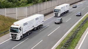 Lastwagen zwischen München und Nürnberg fahren jetzt selbständig
