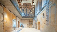 In der Ruine von Schloss Schwarzburg in Thüringen sind Räume fertiggestellt.